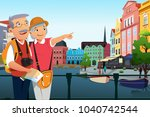 a vector illustration of senior ... | Shutterstock .eps vector #1040742544