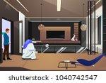a vector illustration of robot... | Shutterstock .eps vector #1040742547