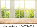 top of wood table counter on... | Shutterstock . vector #1040744791