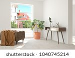 idea of white room with... | Shutterstock . vector #1040745214