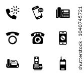 set of black icons isolated on... | Shutterstock .eps vector #1040745721