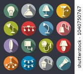 lighting vector icons | Shutterstock .eps vector #1040750767