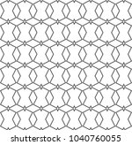 seamless geometric ornamental... | Shutterstock .eps vector #1040760055