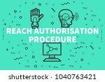 conceptual business... | Shutterstock . vector #1040763421