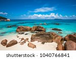 tropical beach anse lazio ... | Shutterstock . vector #1040766841