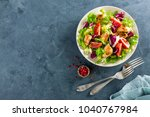 fresh vegetable salad of... | Shutterstock . vector #1040767984