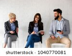 young modern business people... | Shutterstock . vector #1040770081