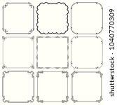 decorative frames  set 59    Shutterstock .eps vector #1040770309