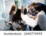 business meeting and teamwork... | Shutterstock . vector #1040774959
