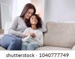 embracing. beautiful content... | Shutterstock . vector #1040777749