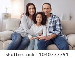 happy family. pretty joyful... | Shutterstock . vector #1040777791
