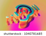 colourful assistive listening... | Shutterstock . vector #1040781685