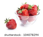 Glass Bowl With Strawberries...