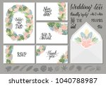 set of wedding invitations...   Shutterstock .eps vector #1040788987