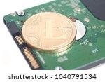 computer hard disk drive hdd... | Shutterstock . vector #1040791534
