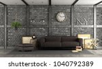 livng room in a loft with black ... | Shutterstock . vector #1040792389