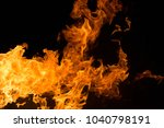 fire isolated on black | Shutterstock . vector #1040798191