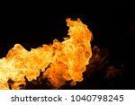 fire isolated on black | Shutterstock . vector #1040798245