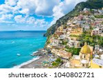 beautiful view of the positano... | Shutterstock . vector #1040802721