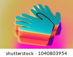colourful sign language icon on ...