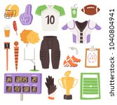 rugby vector rugger sportswear... | Shutterstock .eps vector #1040804941