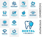 vector dental label protection... | Shutterstock .eps vector #1040805241
