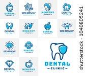 vector dental label protection... | Shutterstock .eps vector #1040805241