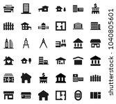 flat vector icon set   school... | Shutterstock .eps vector #1040805601