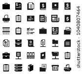 flat vector icon set   case... | Shutterstock .eps vector #1040807464