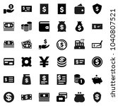 flat vector icon set   dollar...   Shutterstock .eps vector #1040807521