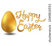 happy easter lettering card... | Shutterstock . vector #1040810551