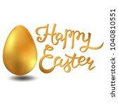 happy easter lettering card... | Shutterstock . vector #1040810551