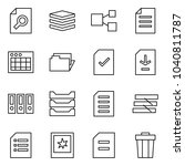 flat vector icon set   search... | Shutterstock .eps vector #1040811787