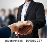 business people shaking hands | Shutterstock . vector #104081237