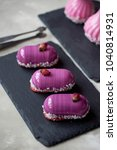 six beautiful mousse cakes...   Shutterstock . vector #1040814931