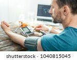 whats tour pulse. concentrated... | Shutterstock . vector #1040815045