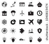 solid black vector icon set  ... | Shutterstock .eps vector #1040815474