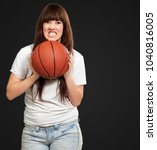 portrait of a young female with ...   Shutterstock . vector #1040816005