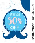 happy father's day sale. vector ... | Shutterstock .eps vector #1040822671