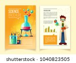 science brochure vector... | Shutterstock .eps vector #1040823505