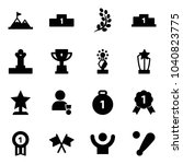 solid vector icon set  ... | Shutterstock .eps vector #1040823775