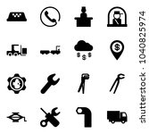 solid vector icon set   taxi... | Shutterstock .eps vector #1040825974