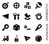solid vector icon set   target... | Shutterstock .eps vector #1040826721