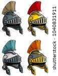 cartoon colorful metal ancient...   Shutterstock .eps vector #1040831911