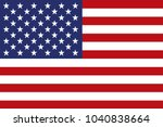 flag of the united states of... | Shutterstock . vector #1040838664