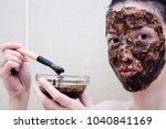 caucasian model between age 20... | Shutterstock . vector #1040841169