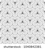 japanese tiling pattern with... | Shutterstock .eps vector #1040842381