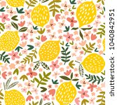 Vector Flower And Lemon...