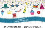 photo booth props set vector... | Shutterstock .eps vector #1040844034