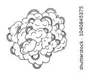 abstract linework ink... | Shutterstock .eps vector #1040845375